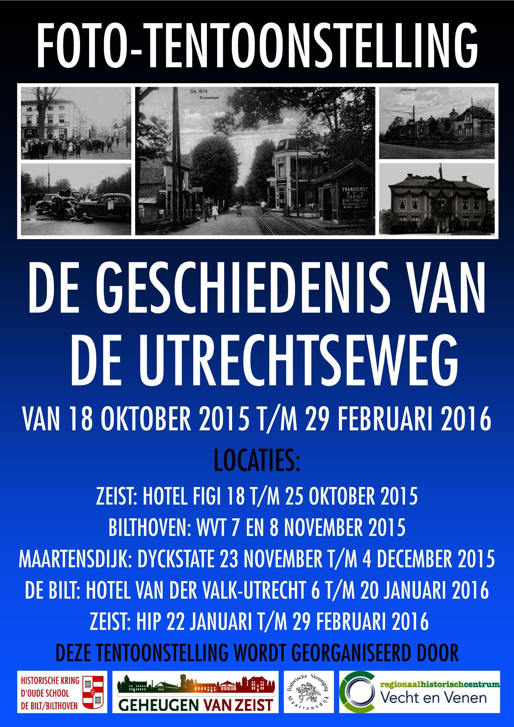Tentoonstelling de geschiedenis van de Utrechtseweg