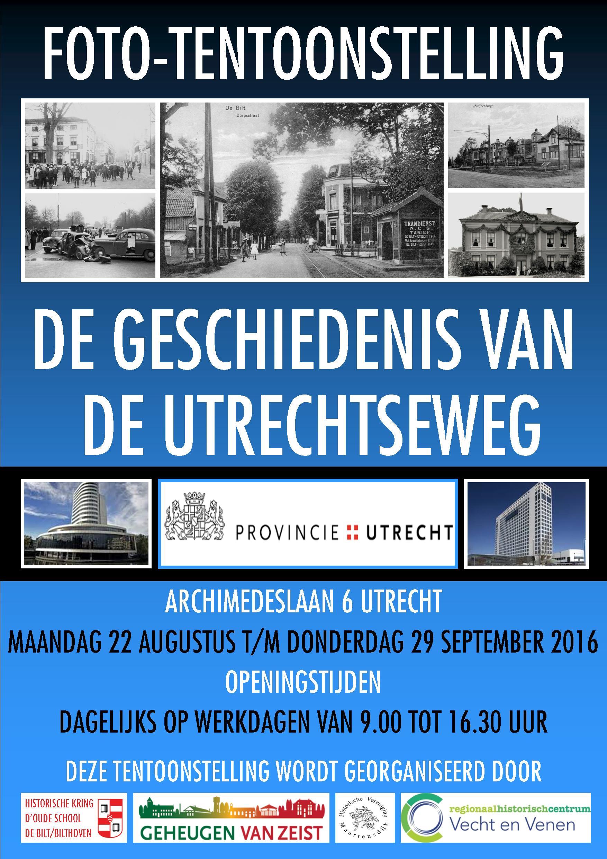 Tentoonstelling De Geschiedenis van de Utrechtseweg te zien in het Provinciehuis