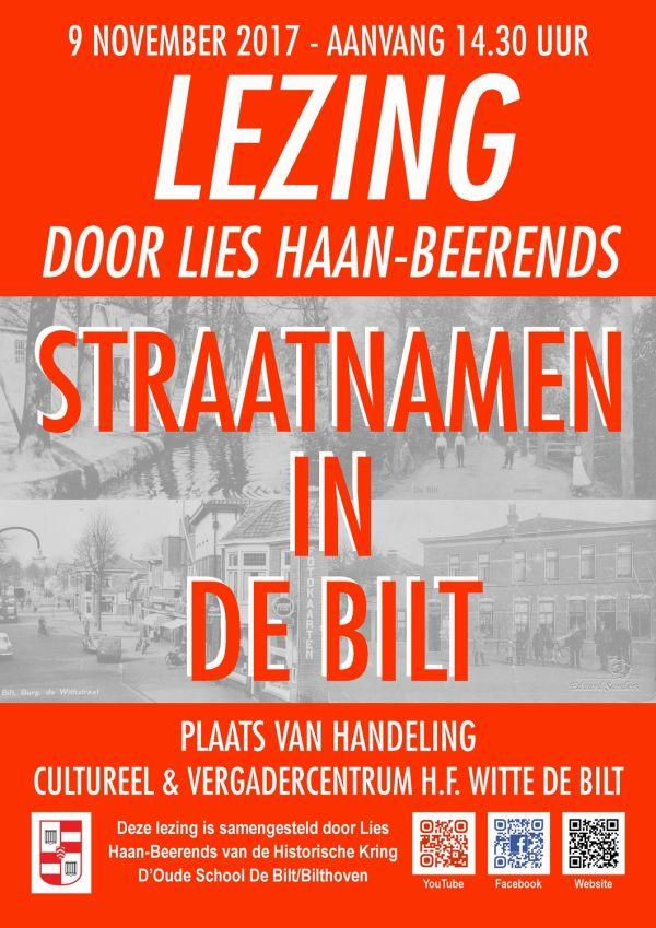 """Lezing """"Straatnamen in De Bilt"""""""