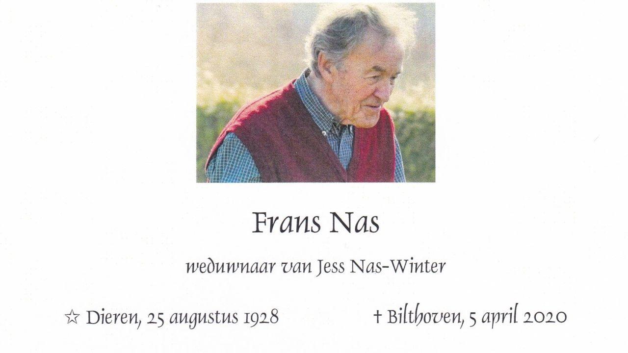 In memoriam Frans Nas
